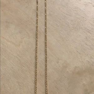 14k Solid Gold Figaro Chain